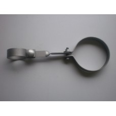 Bracket -  silencer to chassis tubular member - 10/4 cruxiform chassis with tubular cross member