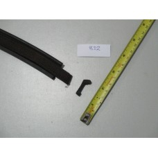Bonnet tape rubber with web woven insert - price per meter