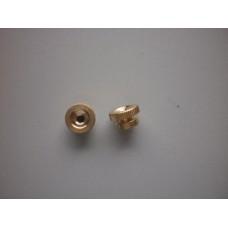 Plug nut - knurled brass