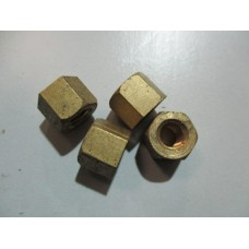 Deep Brass nut 3/8'' pack of 5