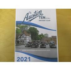 Austin Ten Drivers Club Calendar 2021